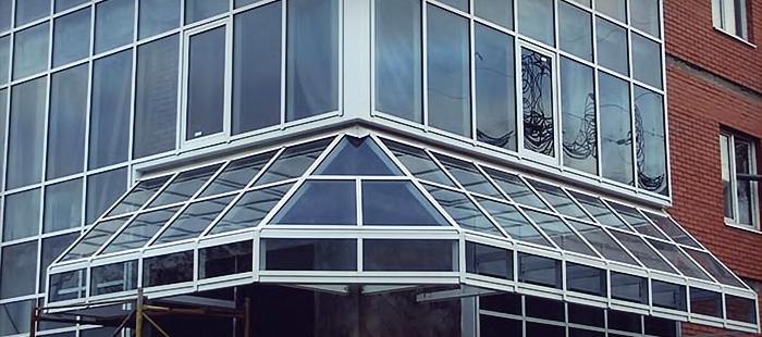 Монтаж алюминиевых окон фото
